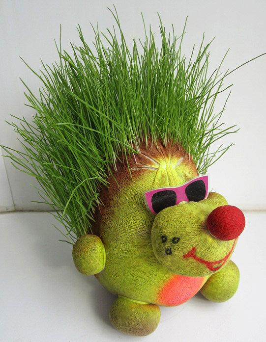 Травяная голова